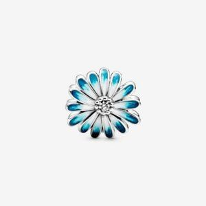 ❤️Pandora Blue Daisy Flower Charm